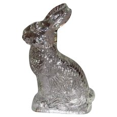 Vintage Molded Glass Rabbit Candy Container