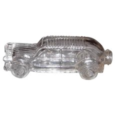 Vintage Clear Glass Car Candy Container Bottle