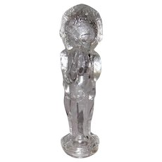 Vintage Glass Kewpie Doll Candy Container, Bottle