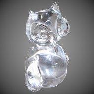 Vintage Art Glass Owl Figurine