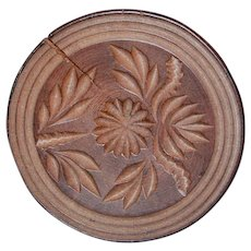 19th Century Hand Carved Butter Stamp