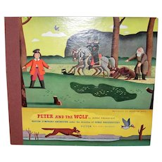 Ca. 1950s Peter and the Wolf Record Album by Serge Prokofieff