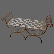Mid-Century Gilt Metal Neoclassical Settee