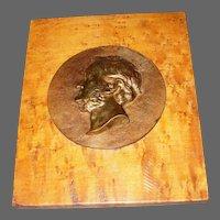 Cast Copper/Bronze Lincoln Silhouette