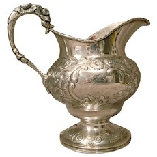 Samuel Kirk Sterling Silver Pitcher