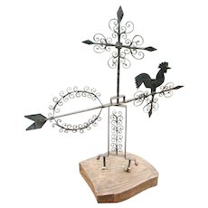 Wrought Iron and Sheet Metal Weathervane