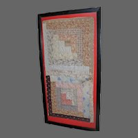 Two Framed Early Quilt Squares