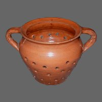 Redware Pottery Cheese Mold Strainer