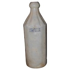 19th Century 12 sided Burr & Waters Stoneware Bottle