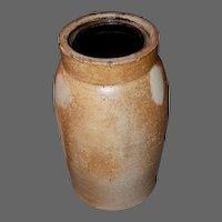 19th c Stoneware Wax Seal Canning, Preserve Jar