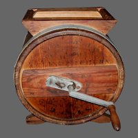 Table-Top Cylinder Barrel Butter Churn