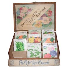 Pages Choice Flower Seed Display Box with Seed Packets