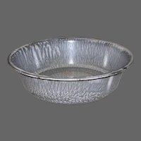 Vintage Gray Mottled Graniteware Pudding Pan