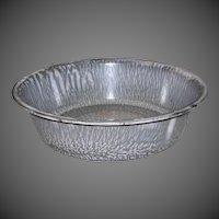 Vintage Gray Mottled Graniteware Pudding Pan