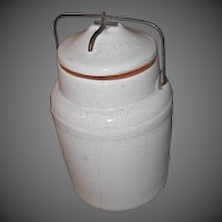 Western Stoneware Crock with Lid