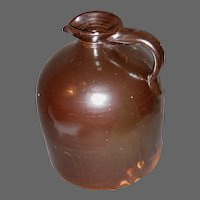 American Stoneware Bee Hive Molasses Jug with Pour Spout