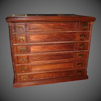 Six Drawer J. & P. COATS Spool Cabinet