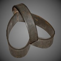 Early Primitive Tin Heart Shaped Biscuit/Cookie Cutter