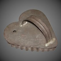 Tin Heart Cookie Cutter with Tulip Center