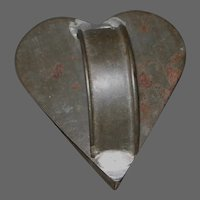 Early Primitive Tin Heart Shaped Cookie Cutter