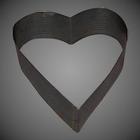 Vintage Tin Heart Shape Cake Form Cutter