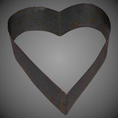 Vintage Tin Heart Shape Cake Form Cutter