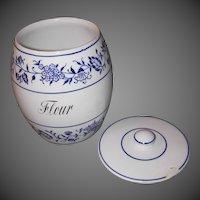 Large Blue Onion Flour/Tea Canister - Germany