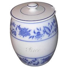 Large Blue Onion Rice Canister - Germany