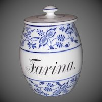 Blue Onion Farina Canister Germany