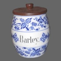 Blue Onion Barley Canister Germany