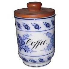 Blue Onion Coffee Canister Germany