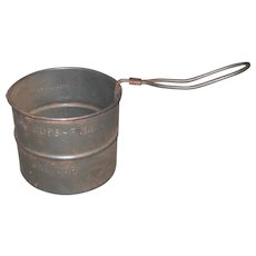 Early 1900's Primitive Tin Sifter with Slide Handle