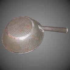 Early Punched Tin Strainer-Skimmer