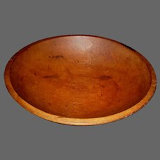 19th Century Turned Oval Chopping Bowl