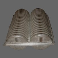 19th Century Primitive Tin Baking Mold