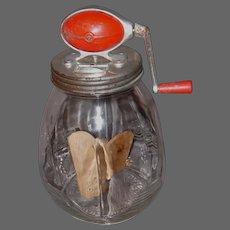 Early 1900s DAZEY No.8 Butter Churn w/Wood Paddles & Tulip Jar