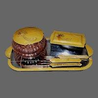 6 Piece Vintage PYRALIN Celluloid Vanity Set