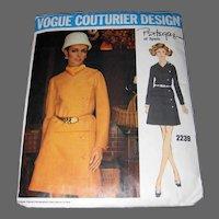Vintage 1960s VOGUE COUTURIER DESIGN Pattern 2239 Size 10 Two-Piece Dress