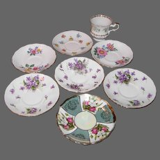 Odd Lot of Mismatched China Saucers (8 count)