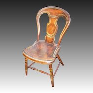 Mid-19th Century Pennsylvania Balloon Back Chair