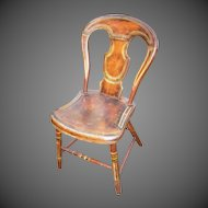 Mid-19th Century Pennsylvania Balloon Back Chair