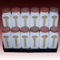 Vintage Griffith's 12 Jar Spice Set w/Rack