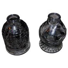 2 Smoke Gray Wheaton, NJ Old Doc's Cure & Catarrah Cure Bottles