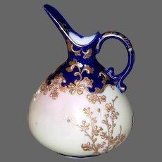 Vintage 'Moriage' Nippon Porcelain Ewer/Melon Pitcher