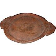 Large Vintage Hand Carved Parat, Chapati Dough Bowl