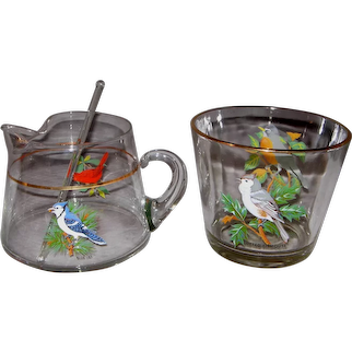 American Songbird Ice Bucket with Cocktail Pitcher & Stirrer