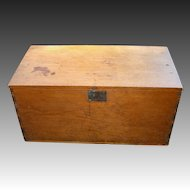 Antique Small Pine Blanket Box