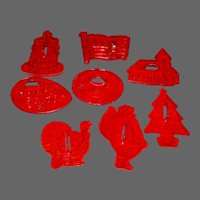 "Domino Sugar ""Happy Time"" Cookie Cutter Holiday Set with Box"