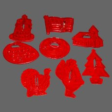 """Domino Sugar """"Happy Time"""" Cookie Cutter Holiday Set with Box"""