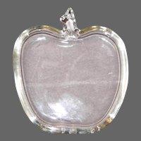 Vintage Hazel Atlas Clear Glass Apple Shaped Coasters (8 count)